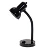 Ledu Incandescent Gooseneck Desk Lamp, Black, 16 Inches High