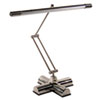 Full Spectrum Adjustable Desk Lamp, 25 Inches High, Brushed Steel