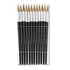Charles Leonard Artist Brush, Size 12, Camel Hair, Round, 12/Pack
