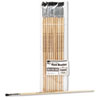 Charles Leonard 73525 Long Handle Easel Brush, Size 4, Natural Bristle, Flat, 12/Pack LEO73525 LEO 73525