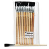 Charles Leonard Long Handle Easel Brush, Size 18, Natural Bristle, Flat, 12/Pack