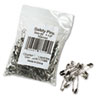 "Safety Pins, Nickel-Plated, Steel, 1 1/2"" Length, 144/Pack"