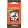 Lexmark 18Y0142 (42) Ink, Black