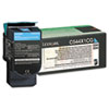 C544X1CG Extra High-Yield Toner, 4000 Page-Yield, Cyan