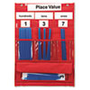 Learning Resources Counting and Place Value Pocket Chart with Cards, Straws, 13 x 17 3/4