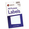 Multipurpose Self-Adhesive Removable Labels, 2 x 4, White, 120/Pack