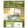 Recycled Laser and InkJet Labels, 8-1/2 x 11, White, 100/Box