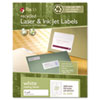 Recycled Laser and InkJet Labels, 1 x 4, White, 2000/Box