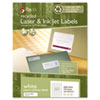 Recycled Laser and InkJet Labels, 1/2 x 1-3/4, White, 8000/Box