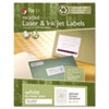 Recycled Laser and InkJet Labels, 2/3 x 3 7/16, White, 1500/Box