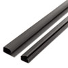 Cord Away 1-1/2 Locking Channel, Black, 1/Pack