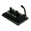 40-Sheet Lever Action Two- to Seven-Hole Punch, 9/32&quot; Holes, Black