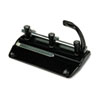 Master 32-Sheet Lever Action Two- to Seven-Hole Adjustable Punch, Black
