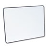White-on-White Magnetic Planning Board, Steel, 48 x 36, White/Black