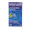 Maxell All-Purpose Standard Grade 6 Hour VHS Videotape Cassette