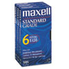Maxell GX-Silver VHS Videotape Cassette, 6 Hours, 3/Pack
