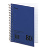 Mead DuraPress Cover Notebook, College Rule, 5 x 7, White, 80 Sheets