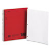 Mead DuraPress Cover Notebook, College Rule, 8 1/2 x 11, White, 100 Sheets