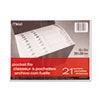 Mead All-Purpose File, 21 Pockets, Letter, Assorted