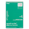 Mead Spell-Write Steno Book, Gregg Rule, 6 x 9, Green, 80 Sheets