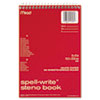Mead Spell-Write Wirebound Steno Book, Gregg Rule, 6 x 9, White, 80 Sheets