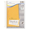 Mead Academie Wirebound Sketch Diary, 9 x 6, White, 70 Pages
