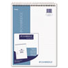 Wirebound Numbered Legal Pad, 8 1/2 x 11 3/4, 20 lb, Legal, 70 Sheets, White