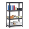 Commercial Shelving, 4 Shelves, 36w x 16d x 60h, Black