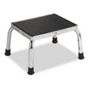 Economical Foot Stool, Rubber Tipped Feet, Stainless Steel