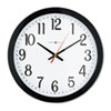 Gallery Wall Clock, 16in, Black