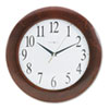 Corporate Wall Clock, 12-3/4in, Cherry