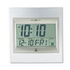 Radio Control TechTime II LCD Wall/Table Alarm Clock, Silver