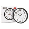 Alton Auto Daylight Savings Wall Clock, 14in, Black