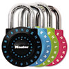 Set-Your-Own Combination Lock, Steel, 1 7/8&quot; Wide, Assorted