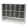 Kwik-File Mailflow-To-Go 2 Tier Sorter with Riser, 50 Pockets, 60w x 13¼d x 46¼h