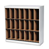 Kwik-File Vertipocket Vertical Sorter, 21 Pockets, 37¾w x 12¾d x 37h, Pebble Gry