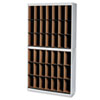 Kwik-File Vertipocket Vertical Sorter, 42 Pockets, 37¾w x 12¾d x 71h, Pebble Gry