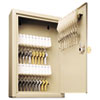 SteelMaster Uni-Tag Key Cabinet, 30-Key, Steel, Sand, 8 x 2 5/8 x 12 1/8