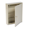 SteelMaster Uni-Tag Key Cabinet, 80-Key, Steel, Sand, 14 x 3 1/8 x 17 1/8