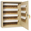 SteelMaster Uni-Tag Key Cabinet, 160-Key, Steel, Sand, 16 1/2 x 4 7/8 x 20 1/8