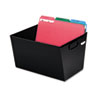Posting Tub Storage Box, Letter, Steel, 12-1/8 x 11-3/8 x 7, Black