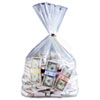 MMF Industries Currency Deposit Bags, 12 x 20, Clear, 100/Box