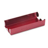 Rolled Coin Aluminum Tray w/Denomination &amp; Quantity Etched on Side, Red