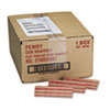 MMF Industries Pop-Open Flat Paper Coin Wrappers, Pennies, $.50, 1000 Wrappers/Box