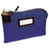 Seven-Pin Security/Night Deposit Bag, Two Keys,Cotton Duck, 11 x 8.5, Blue