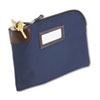 Seven-Pin Security/Night Deposit Bag, Two Keys, Nylon, 11 x 8.5, Navy