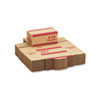 MMF Industries Corrugated Cardboard Coin Transport Box, Lock, Red, 50 Boxes/Carton