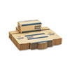 MMF Industries Corrugated Cardboard Coin Transport Box, Lock, Blue, 50 Boxes/Carton