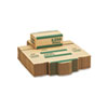 Corrugated Cardboard Coin Transport Box, Lock, Green, 50 Boxes/Carton