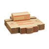 Corrugated Cardboard Coin Transport Box, Lock, Orange, 50 Boxes/Carton